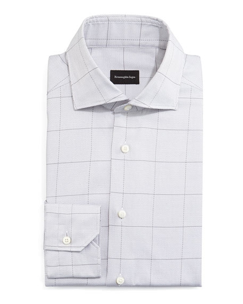 Windowpane Long-Sleeve Dress Shirt by Ermenegildo Zegna in The Wolf of Wall Street