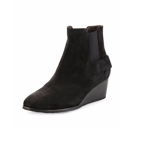 Oddly Suede Wedge Bootie by Coclico in Pretty Little Liars - Season 7 Episode 7