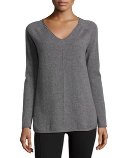 V-Neck Cashmere Pullover by Neiman Marcus Cashmere Collection in Nashville