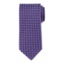 Swirl-Print Silk Tie by Eton in Empire