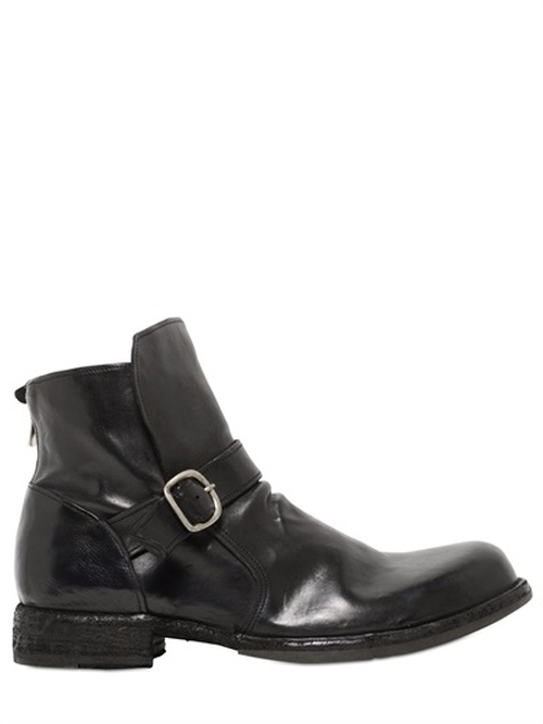 Zip-Up & Buckle Ankle Boots by Officine Creative in Knight and Day