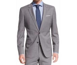 Huge Genius Tonal Plaid Slim Wool Suit by Boss Hugo Boss in Suits