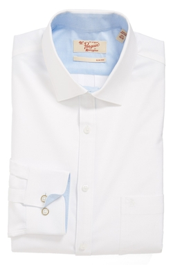 Slim Fit Solid Dress Shirt by Original Penguin in Side Effects