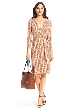 New Julian Two Silk Jersey Wrap Dress by Diane Von Furstenberg in Jessica Jones