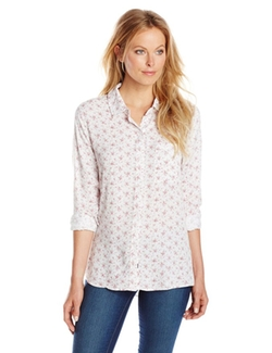 Women's Rocsi Floral Button Down Shirt by Rails in The Big Bang Theory