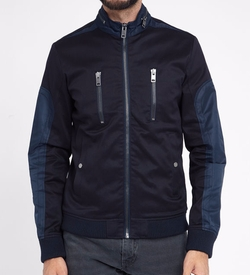 Dual Fabric High Neck Zipped Jacket by Diesel in The Flash