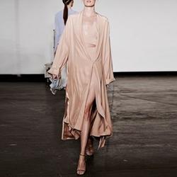 Shawl-Lapel Silk-Charmeuse Coat by Juan Carlos Obando in Keeping Up With The Kardashians