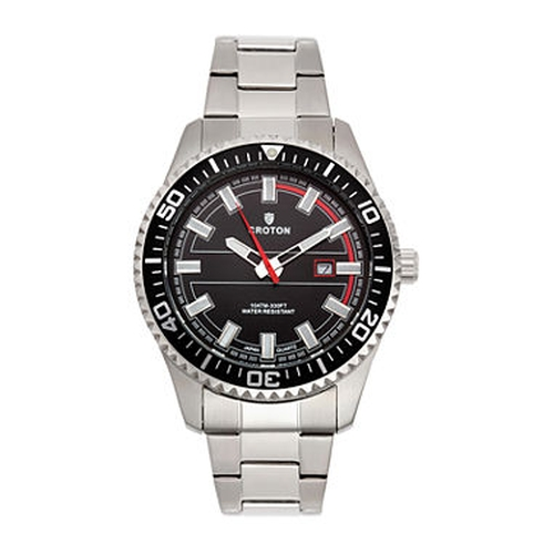 Black Dial Stainless Steel Sport Watch by Croton in Silicon Valley - Season 3 Episode 5