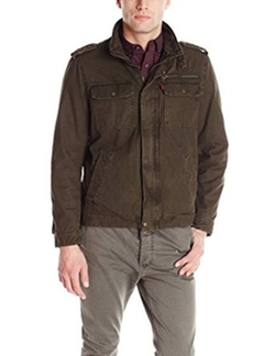 Men's Washed Cotton Two Pocket Military Jacket by Levi's in The Good Wife