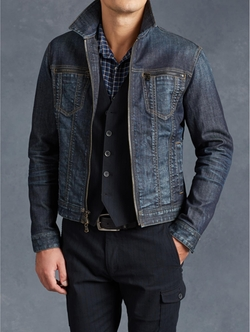 Denim Zip Detail Jacket by John Varvatos in Master of None