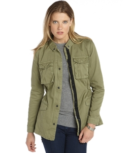 Olive Cotton Twill 'Rihanna' Utility Jacket by Walter in The Big Bang Theory