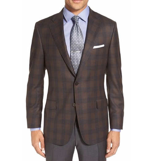 'Beacon' Classic Fit Plaid Wool Sport Coat by Hickey Freeman in The Good Place