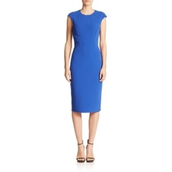 Contoured Cap-Sleeve Sheath Dress by Michael Kors in Scandal