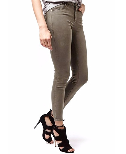 'Leigh' Khaki Ankle Skinny Jeans by Topshop in The Bachelorette - Season 12 Episode 6