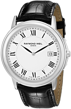 Stainless Steel White Dial Watch by Raymond Weil in American Horror Story