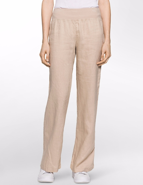 Linen Pants by Calvin Klein in The Boss