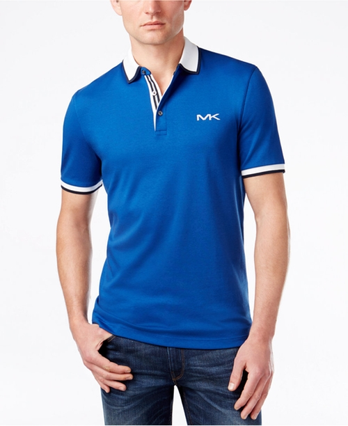 Men's Embroidered-Logo Polo Shirt by Michael Kors in Dope