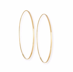 Flat Magic Hoop Earrings by Lana in Keeping Up With The Kardashians
