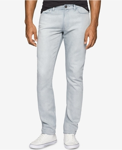 Men's Slim-Fit Over Bleach Jeans by Calvin Klein in Joshy