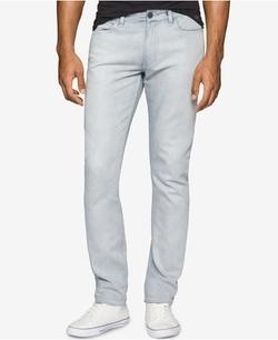 Men's Slim-Fit Over Bleach Jeans by Calvin Klein in Joshy