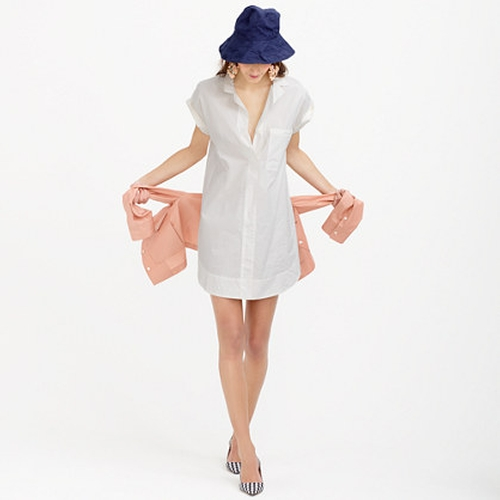 Short-Sleeve Cotton Shirtdress by J.Crew in My All American