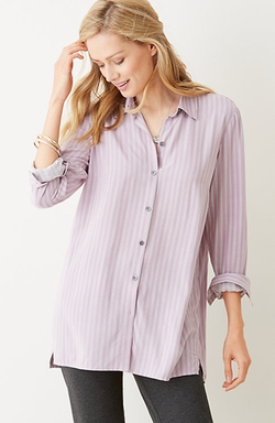 Striped Button-Front Shirt by J. Jill in Nashville