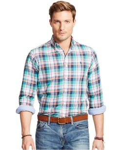 Men's Plaid Shirt by Polo Ralph Lauren in The Longest Ride