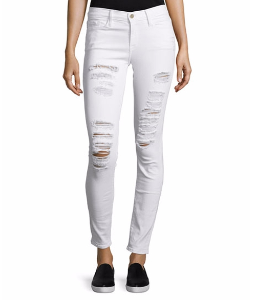Le Color Rip Skinny Distressed Jeans by Frame in Keeping Up With The Kardashians - Season 12 Episode 21