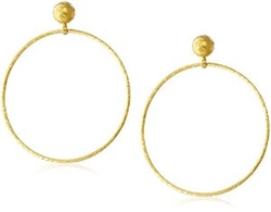 Geo Gold Hoop Post Earrings by Gurhan in Empire