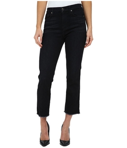 Cropped High Waist Vintage Straight W/ Raw Hem In Slim Illusion Rich Noir by 7 For All Mankind in Pretty Little Liars