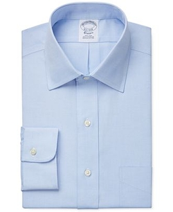 Slim-Fit Pinpoint Solid Dress Shirt by Brooks Brothers in The Blacklist