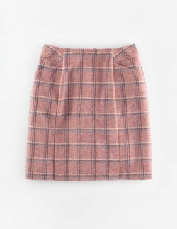 British Tweed Mini Skirt by Boden in Supergirl