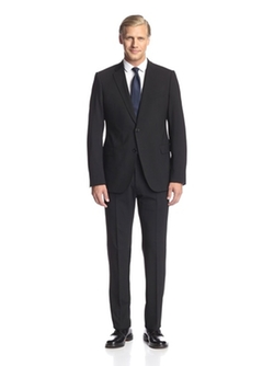 Two Button Notch Lapel Suit by Armani Collezioni in Arrow