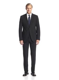 Two Button Notch Lapel Suit by Armani Collezioni in Arrow