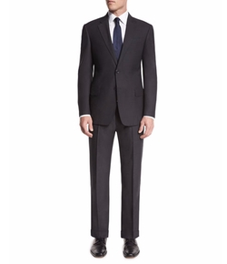 G-Line Textured Wool Two-Piece Suit by Armani Collezioni in Designated Survivor