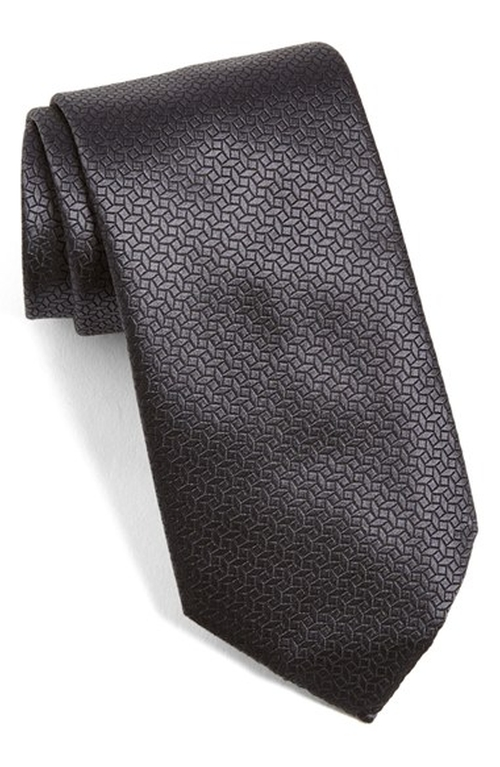 Geometric Silk Tie by Ermenegildo Zelda in The Hateful Eight