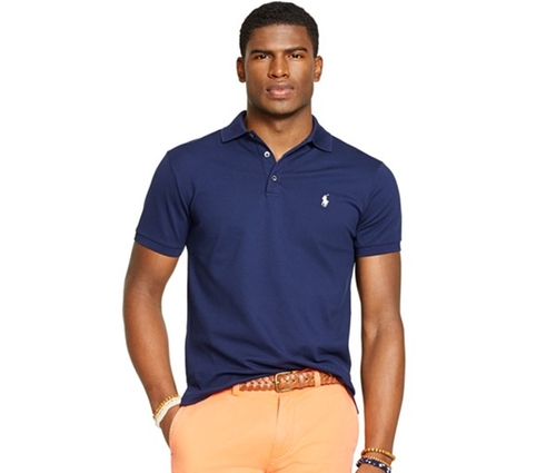 Custom-Fit Stretch-Mesh Polo Shirt by Polo Ralph Lauren in Quantico