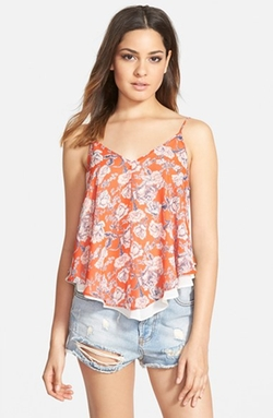 Print Double Layer Camisole by ASTR in Modern Family