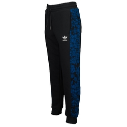 Blue Floral Cuffed Track Pants by Adidas Originals in Keeping Up With The Kardashians