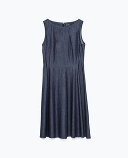 Flared Denim Dress by Zara in Arrow