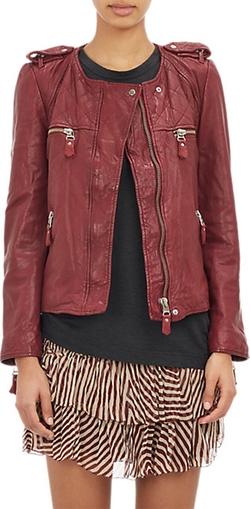 Kady Washed Leather Moto Jacket by Isabel Marant Étoile in Scandal