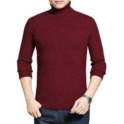 Men's Winter Thick Elastic Knitted Wool Turtleneck Sweater by Zerdocean in Inherent Vice