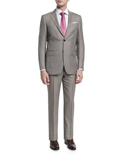 Micro-Tic Two-Piece Trofeo Wool Suit by Ermenegildo Zegna in Burn After Reading