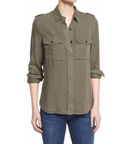 Military Long-Sleeve Shirt by Frame in Keeping Up With The Kardashians