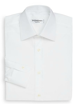 Regular-Fit Cotton Dress Shirt by Yves Saint Laurent in Ashby