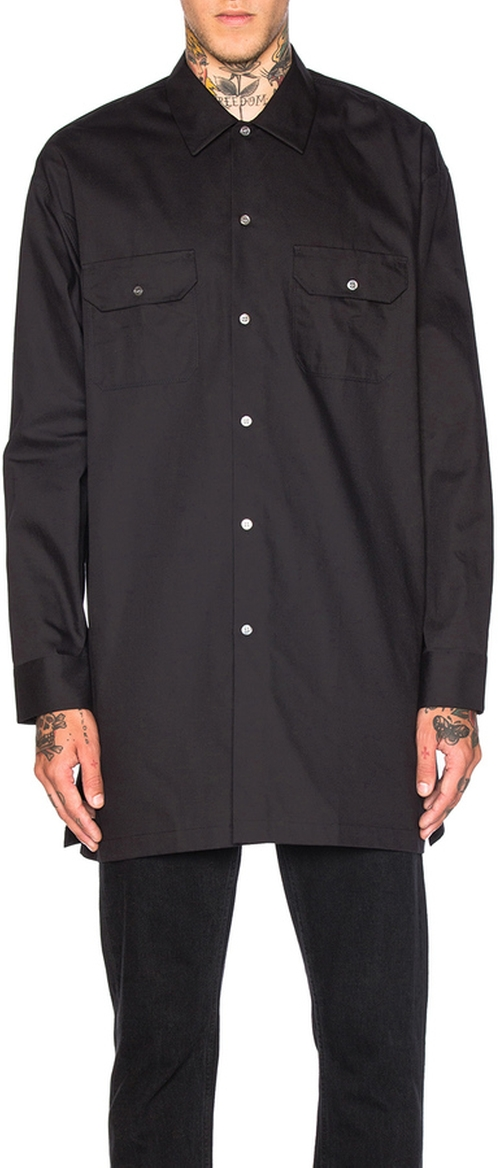 Santos Twill Shirt by Acne Studios in Justice League