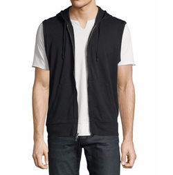 Terry Knit Zip-Front Hooded Vest by John Varvatos Star USA in Ballers