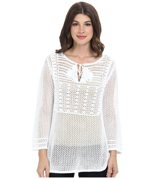 Willa Crochet Pullover Tunic Top by Tommy Bahama in Wedding Crashers