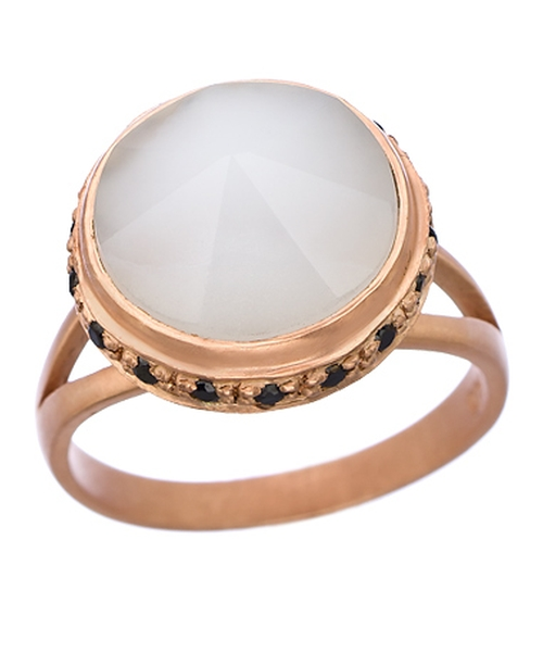 Chalcedony Regal Crown Ring by Didi Jewellery in Knock Knock