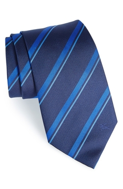 Stripe Silk Tie by Burberry London in Elementary